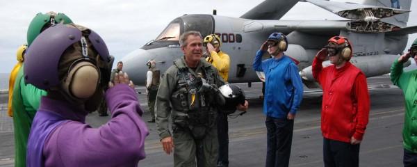 Bush to Lend Putin 'Mission Accomplished' Banner