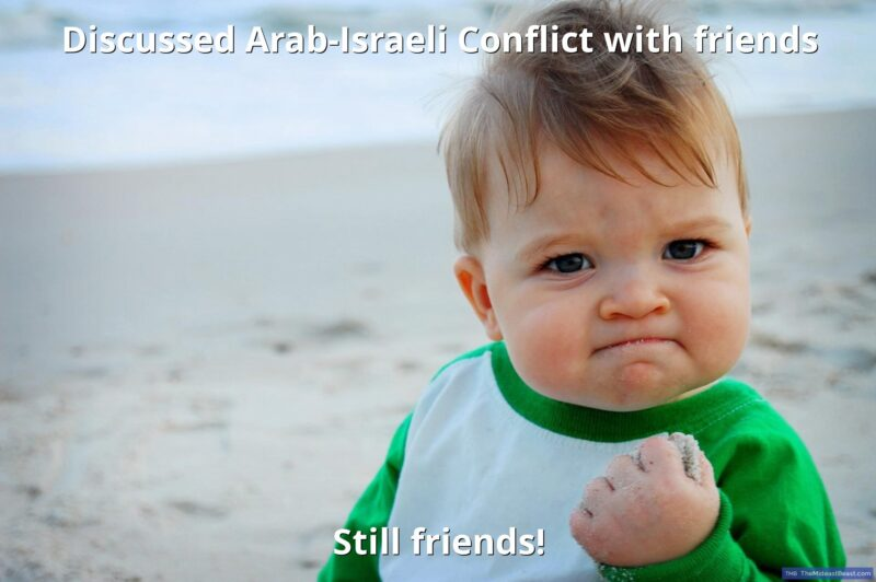 MEME – Discussed Arab-Israeli Conflict with friends