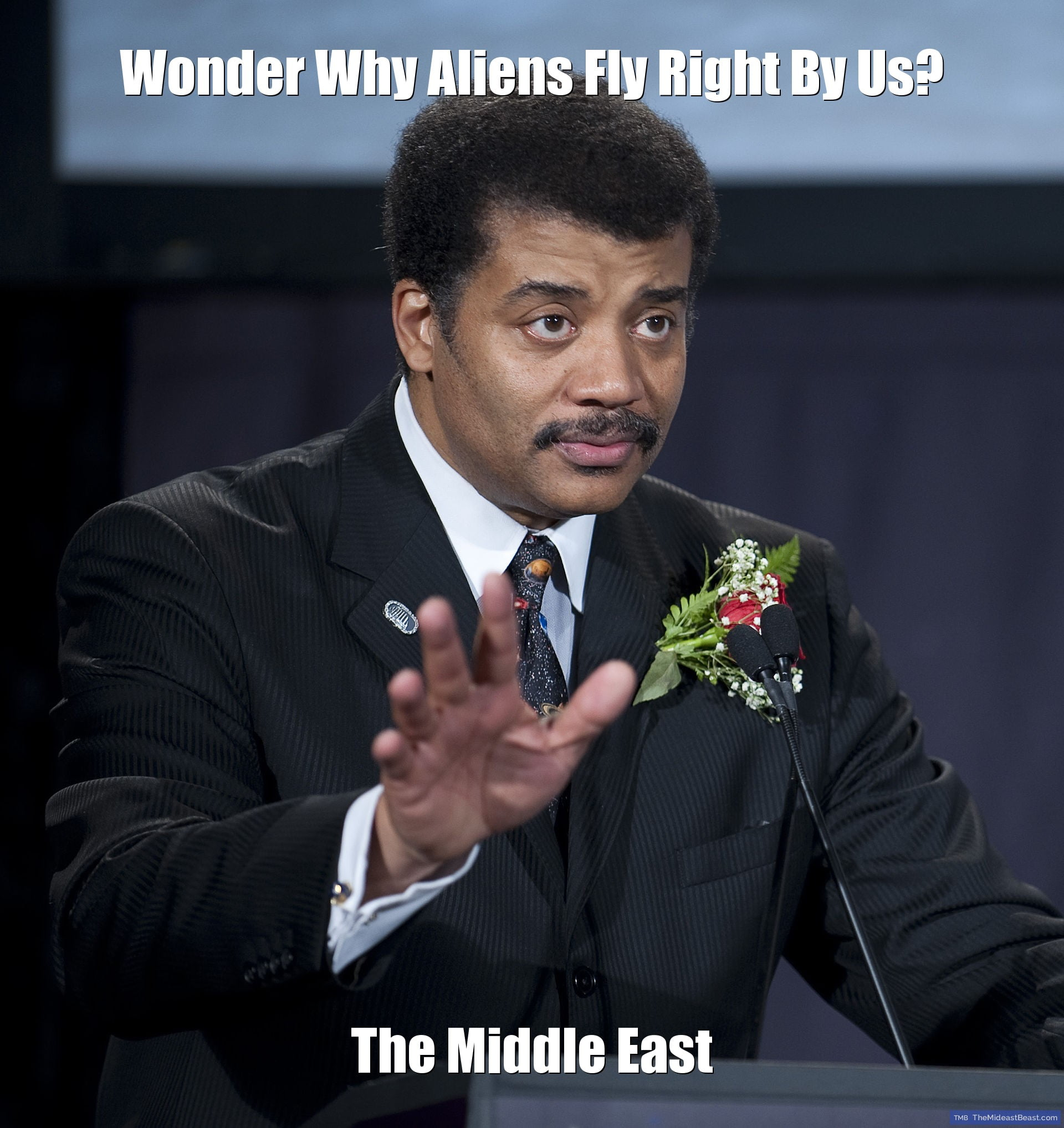 MEME – Wonder Why Aliens Fly Right By Us?