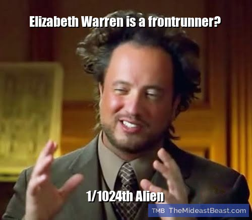MEME – Elizabeth Warren is a frontrunner?