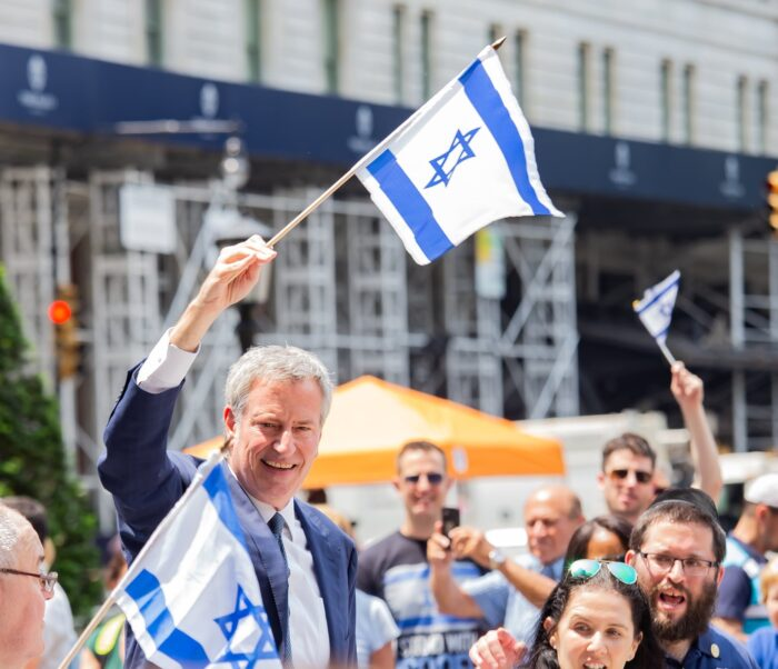 Mayor de Blasio Celebrates Israel's Independence Day by Reminding Jews Why They Need a State